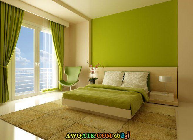 غرفة نوم شيك جداً خضراء