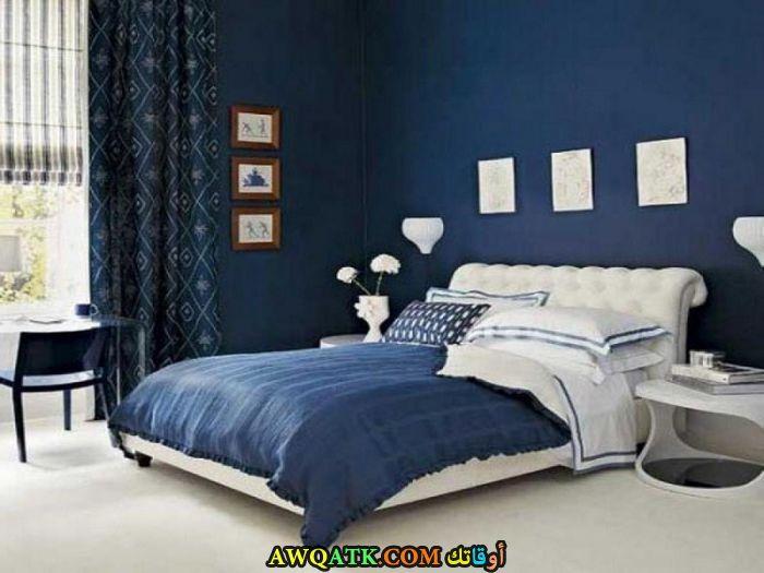 غرفة نوم روعة باللون الأزرق