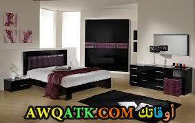 غرفة نوم عصرية باللون الأسود