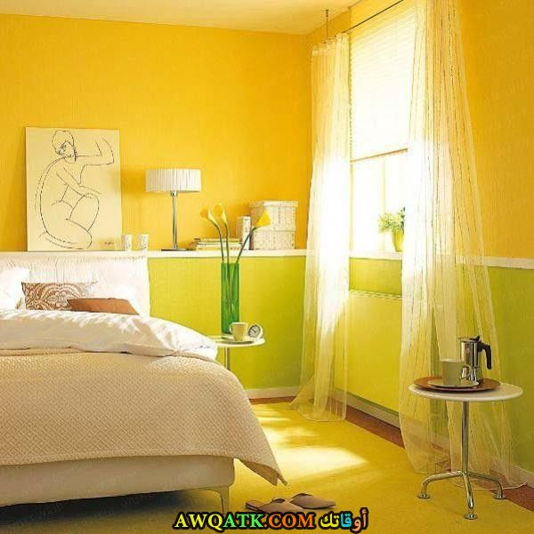 غرفة نوم صفراء جميلة وروعة