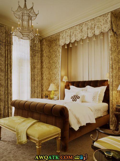 غرفة نوم باللون البيج روعة وشيك