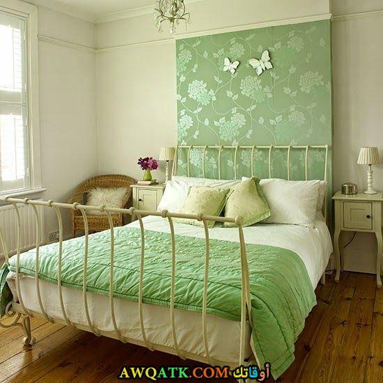 غرفة نوم خضراء جميلة وشيك