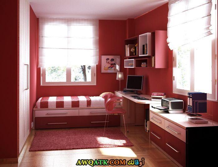 غرفة نوم كلاسيك حمراء