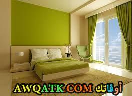 غرفة نوم كلاسيك باللون الأخضر