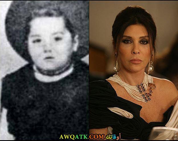 صورة نبهات شيهري وهي طفلة صورة قديمة نادرة وهي صغيرة
