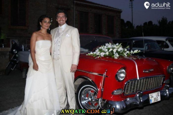 صورة من حفل زفاف ﻣﺘﺘﻰ ﻫﻮﺭﻭﺯ ﺃﻭﻏﻠﻮ