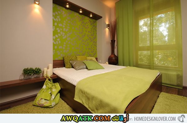 غرفة نوم خضراء شيك