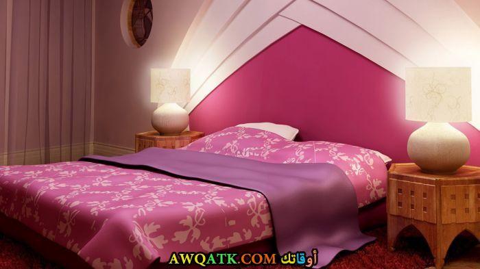 غرفة نوم بينك جميلة جداً