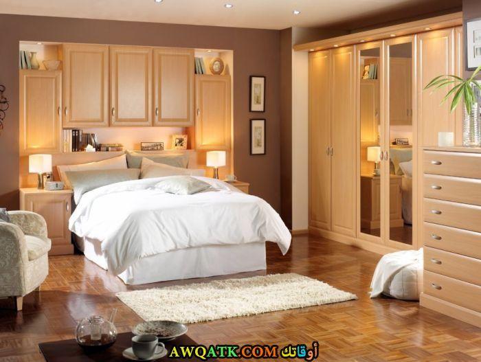 غرفة نوم باللون البيج رائعة وشيك
