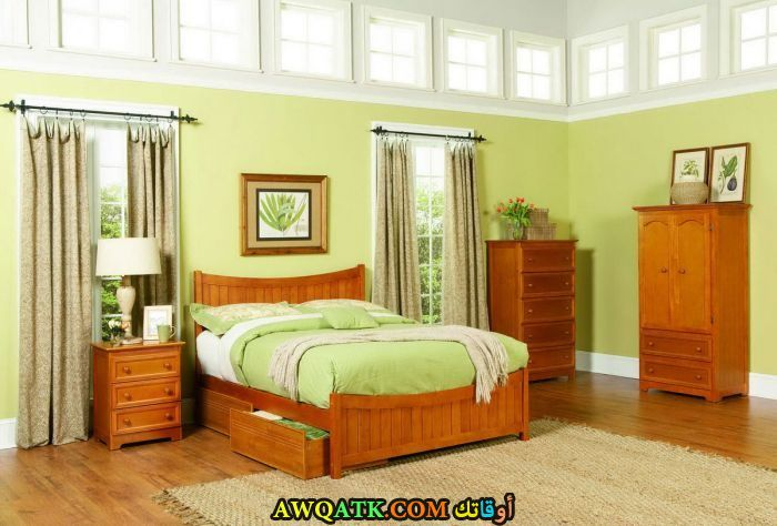 غرفة نوم خشب روعة