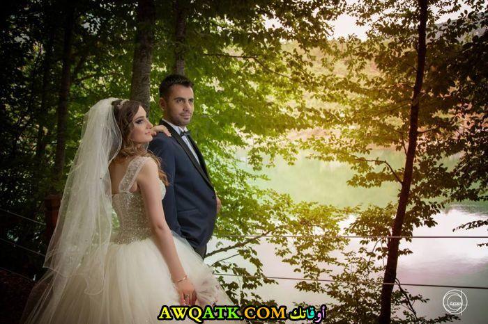 صورة الفنان التركي أحمد رضا قورقت وزوجته