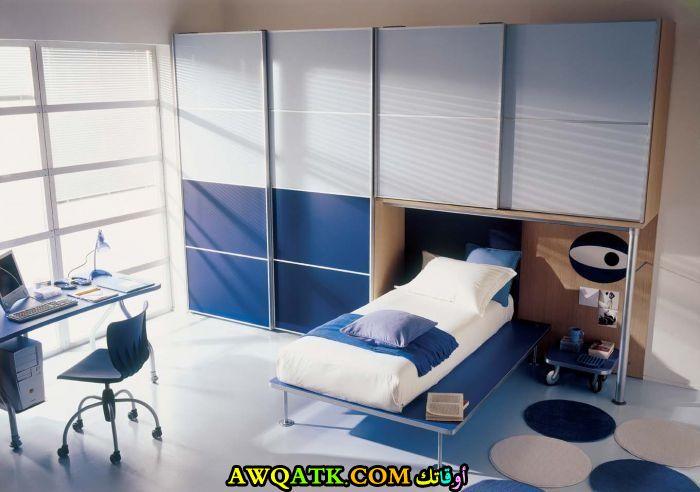 غرفة نوم شيك جداً زرقاء