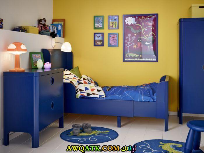 غرفة نوم روعة باللون الأزرق 2017