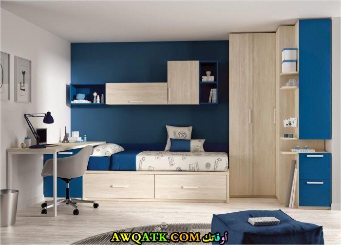 غرفة نوم باللون الأزرق روعة 2017