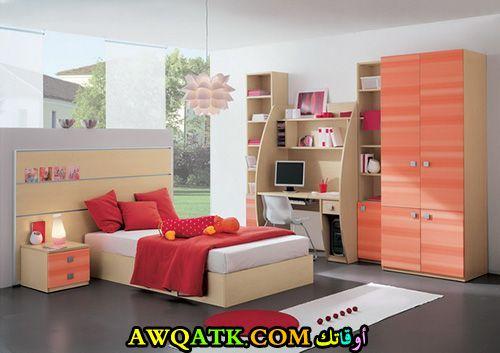 غرفة نوم روعة وشيك برتقالية