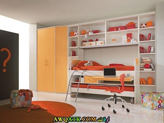 غرفة نوم باللون البرتقالي روعة 2017