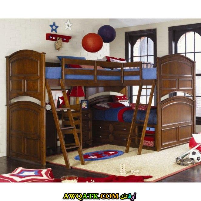 غرفة نوم بنية اللون رائعة وشيك