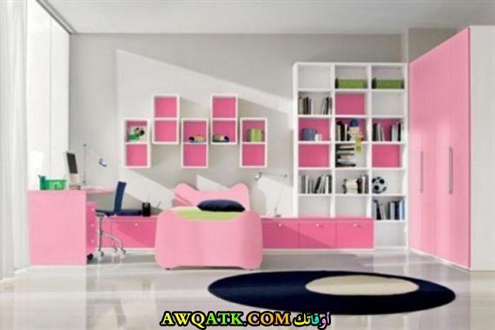 غرفة نوم باللون البينك شيك وروعة