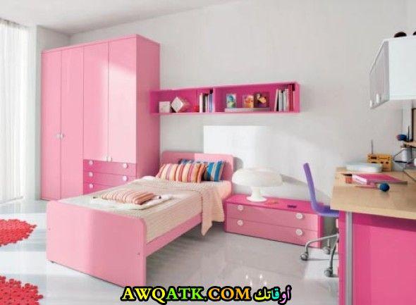 غرفة نوم باللون البينك شيك وجديدة
