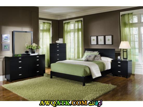 غرفة نوم باللون الأخضر شيك