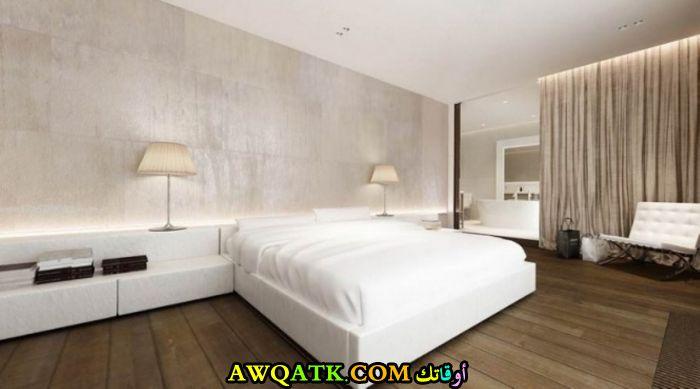 غرفة نوم بيضاء جميلة وروعة