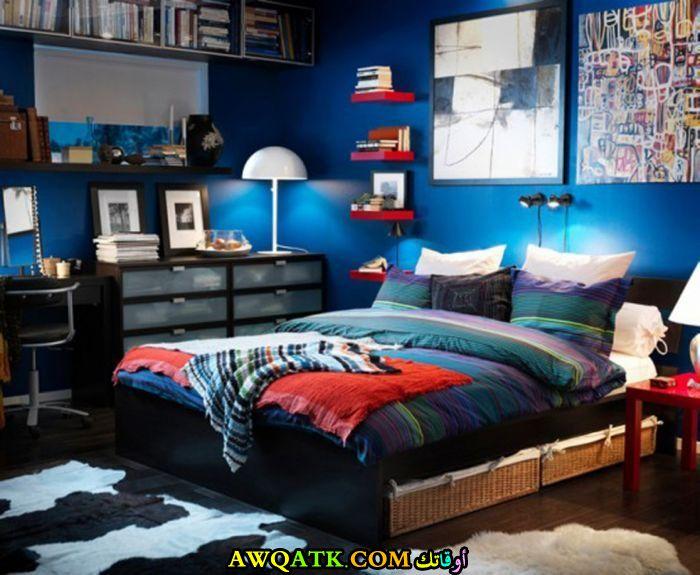 غرفة نوم باللون الأزرق جميلة جداً