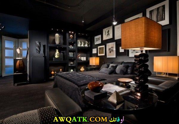 غرفة نوم سوداء جميلة جداً