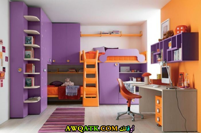 غرفة نوم رائعة وجميلة باللون الموف