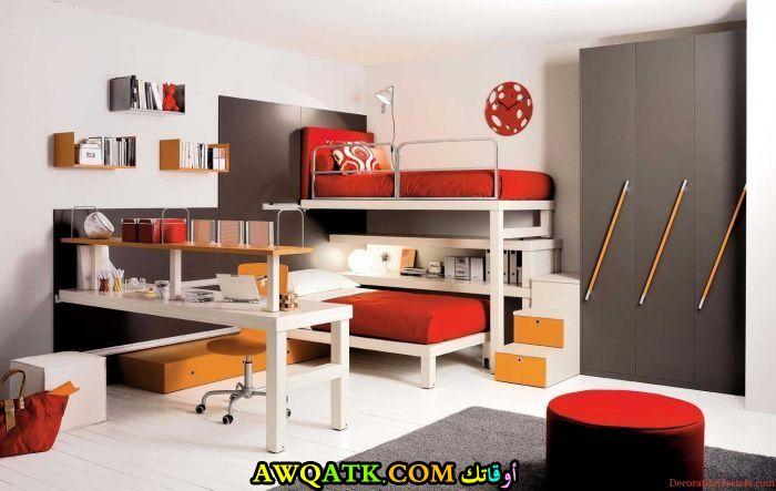 غرف نوم حمراء رائعة