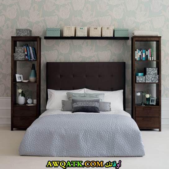 غرف نوم للمساحات الضيقة باللون الأسود والبني 2017