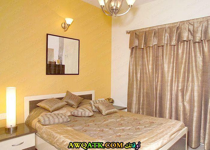 غرفة نوم باللون الأصفر شيك جداً