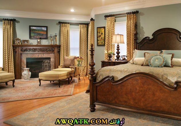 غرفة نوم بنية اللون روعة وشيك