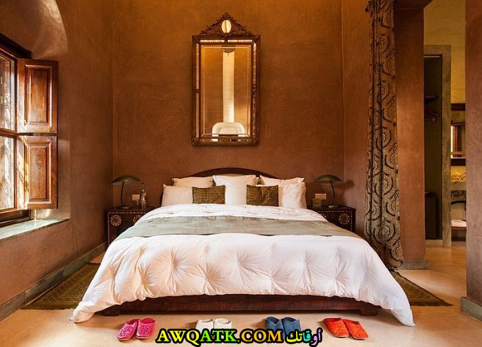 غرفة نوم بنية روعة وشيك