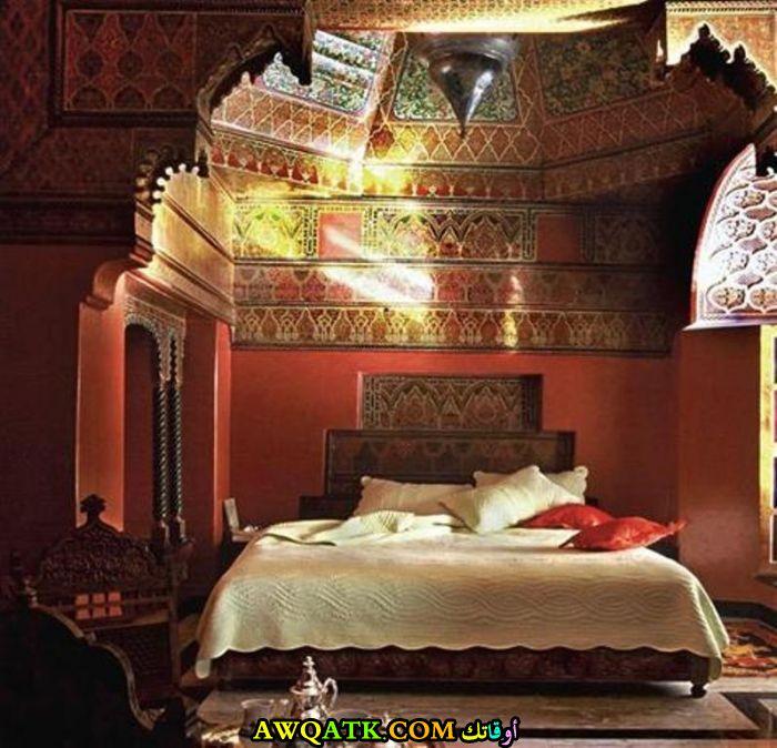 غرفة نوم مغربية باللون البني روعة وشيك