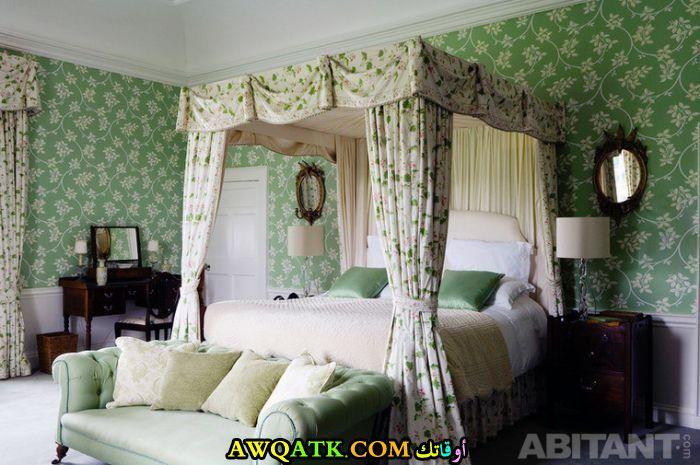 غرف نوم باللون الأخضر جميلة جداً
