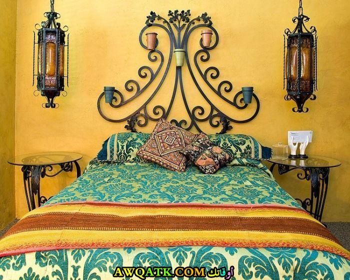 غرفة نوم صفراء شيك ورائعة