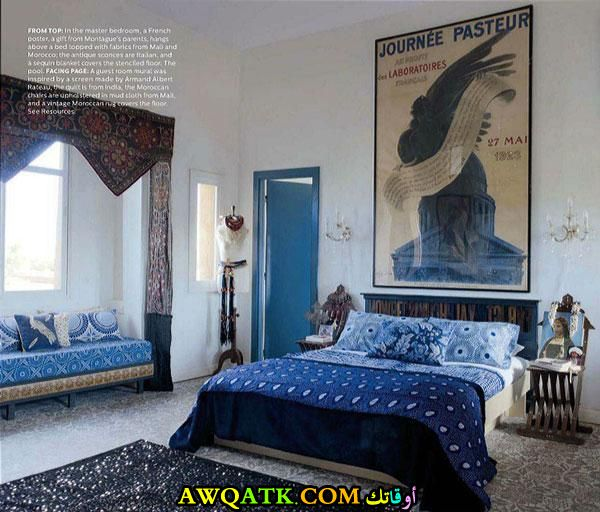 غرفة نوم باللون اللبني جميلة وجديدة