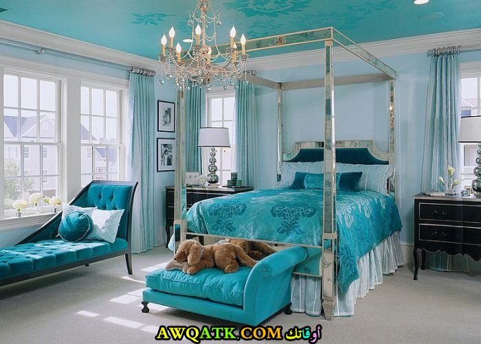 غرفة نوم لبني جميلة وروعة