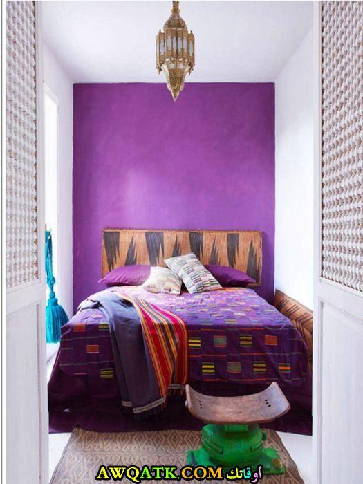 غرفة نوم باللون الموف رائعة وشيك
