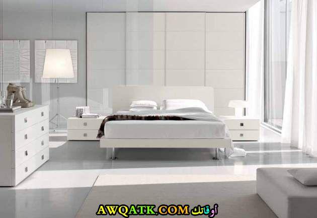 غرفة نوم مودرن بيضاء 2017