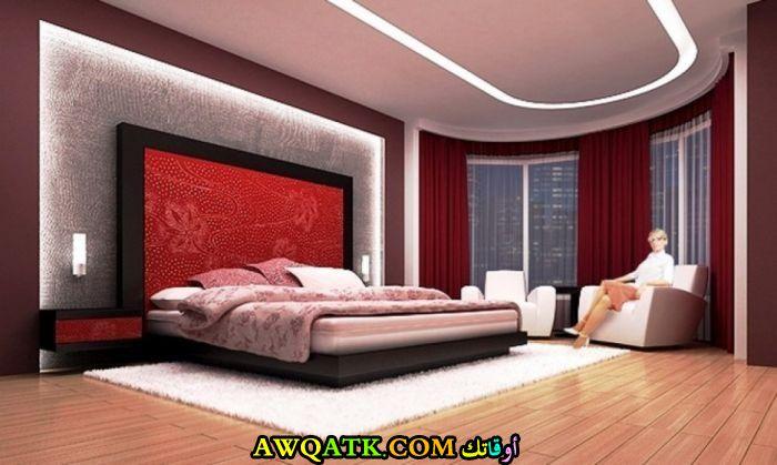غرفة نوم شيك حمراء