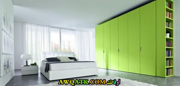 غرفة نوم مودرن باللو الأخضر
