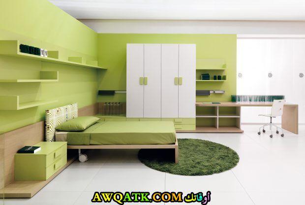 غرفة نوم خضرء شيك جداً