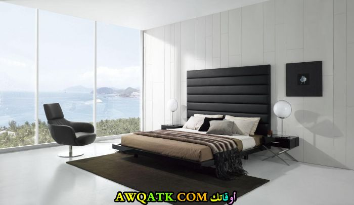 غرفة نوم سوداء روعة