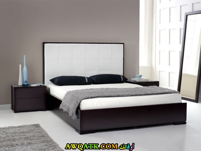 غرفة نوم شيك باللون البني