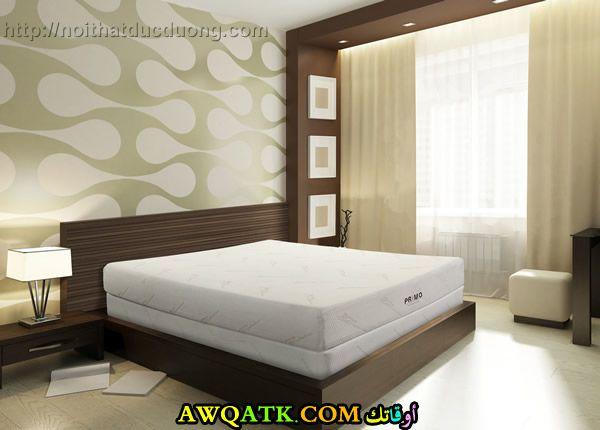 غرفة نوم بنية اللون جميلة جداً وجديدة