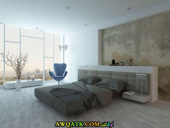 غرفة نوم مودرن كاملة باللون الرمادي