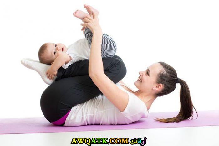 تمارين لرشاقة البطن بعد الولادة