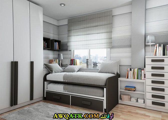 غرف نوم مبتكرة باللون الرمادي والبني