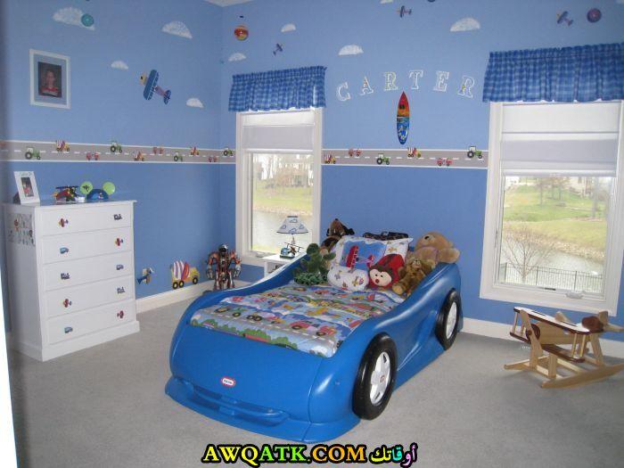غرفة نوم روعة علي شكل سيارة